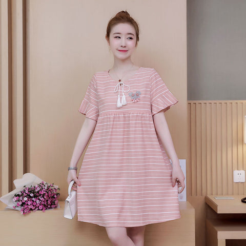 85434e39ce30a 2018 New Fashion Maternity Dresses Easy Feeding Casual Summer Dress For  Pregnant Women A-Line