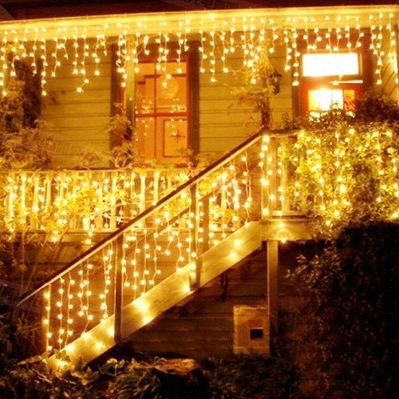 Christmas Lights Outdoor Decoration 5m Droop 0 4 0 6m Led Curtain