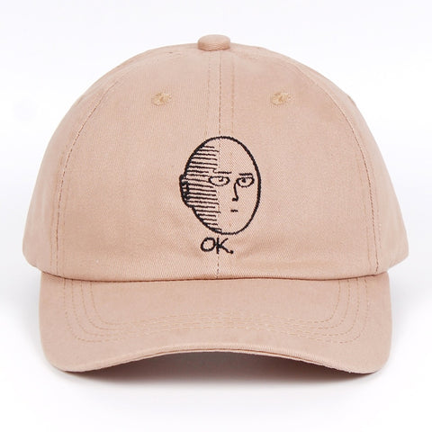 6784bfa7bde5a ONE PUNCH-MAN Dad Hat 100% Cotton baseball cap Anime fan embroidery funny  Hats