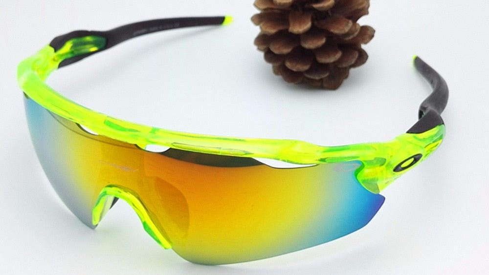 547ab200774f Oakley 201686915 Multicolor Cell Men Women s Active red and yellow Sports  Sunglasses Eyewear Replacement 100