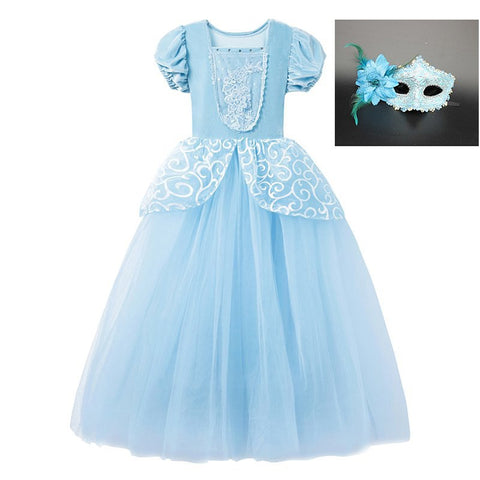 Girls Cosplay Cinderella Princess Dresses Outfit Multi Layers Make-up Party Kids Homecoming Prom Robes Gown Cinderella Costumes Costumes & Accessories