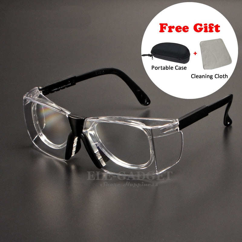 4bdb928a9cc9 Work Safety Goggles Anti-Splash Wind Dust Proof Protective Glasses Optical  Lens Frame For Research