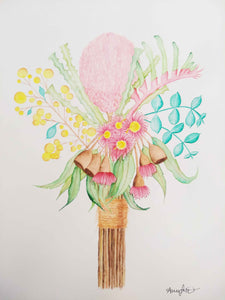 Australian flower watercolour painting