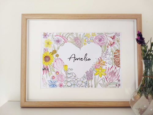 children's flower art print