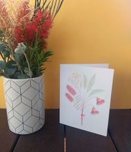 Load image into Gallery viewer, Australian native flower greeting card