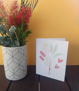 Australian native flower greeting card