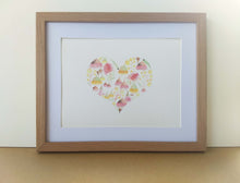 Load image into Gallery viewer, Floral Heart Print