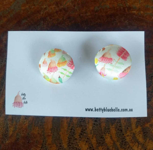 Australian Floral fabric earrings