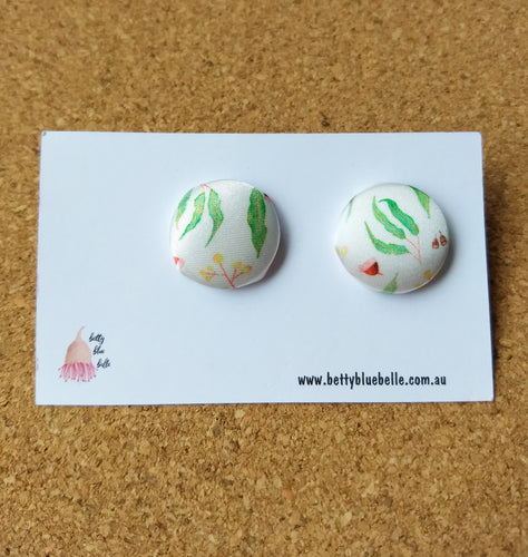 Gum Leaf Stud Earrings