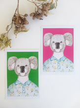 Load image into Gallery viewer, Koala in a Wattle shirt Art Print
