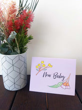 Load image into Gallery viewer, New baby girl greeting card