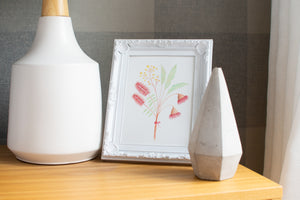 Australian native floral bouquet print