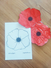 Load image into Gallery viewer, Poppy illustration for ANZAC Day