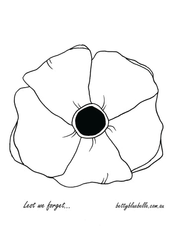 Poppy illustration for ANZAC Day