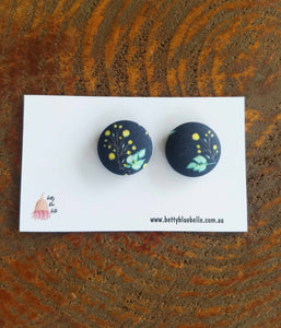 Fabric Wattle Earrings
