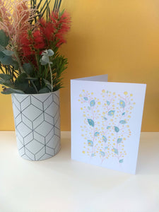 Australian Wattle greeting card