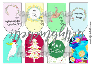 bettybluebelle Christmas Gift Tag Digital Download