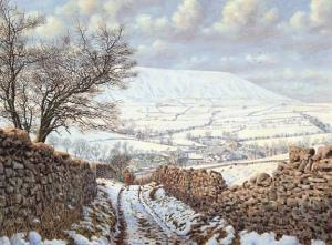 Cards Heys Lane Winter Pendle Hill