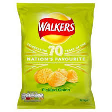 Walkers Pickled Onion Crisps