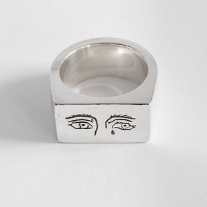 Sad Eyes Silver Ring