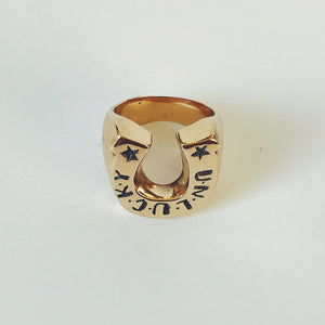 9ct Gold Unlucky Horseshoe Ring