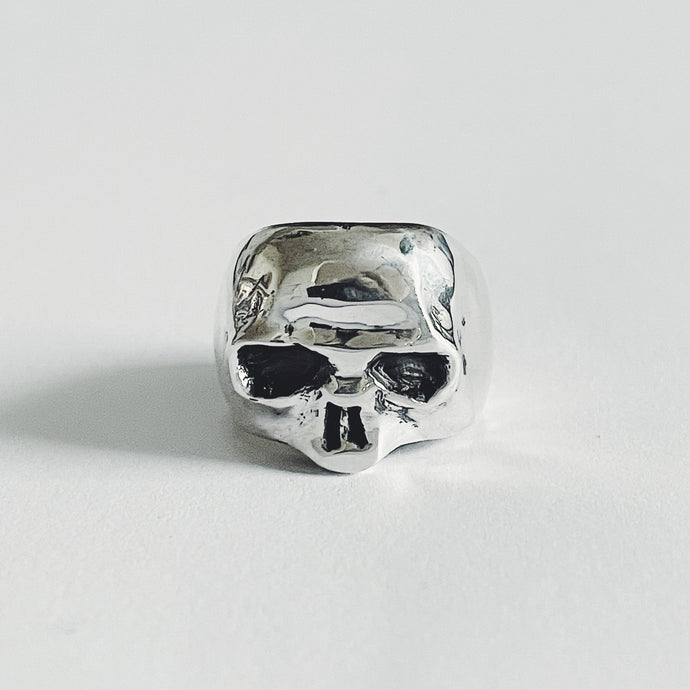 Goodbye Geezer Skull ring