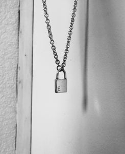The sad padlock necklace