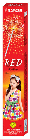Red 15 cm Sparklers (Set of 5 Boxes)