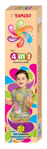 4-in-1 Collections - 10 cm Sparklers (Set of 5 Boxes)