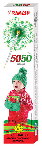 Fifty Fifty Collections - 07 cm Sparklers (Set of 10 Boxes)