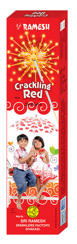 Crackling Red 10 cm Sparklers (Set of 5 Boxes)
