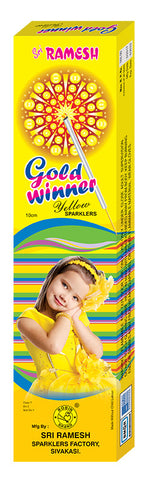 Gold Winner 10 cm Sparklers (Set of 5 Boxes)