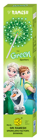 Green 07 cm Sparklers (Set of 10 Boxes)