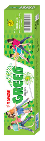 Green 10 cm Sparklers (Set of 5 Boxes)