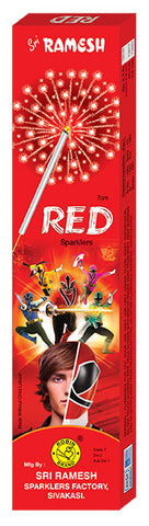 Red 07 cm Sparklers (Set of 10 Boxes)