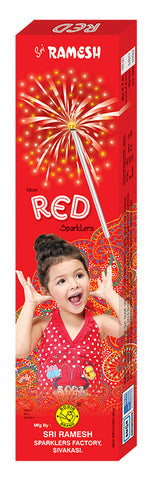 Red 10 cm Sparklers (Set of 5 Boxes)
