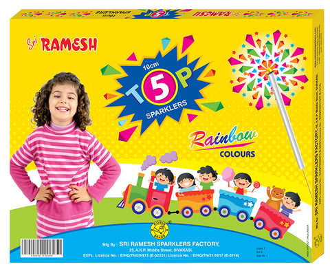 Rainbow Collections - 10 cm Sparklers (Set of 5 Boxes)