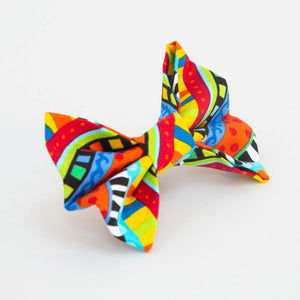 Bright Stripes Bones Bow