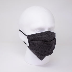 Charcoal Vine Pleated Face Mask