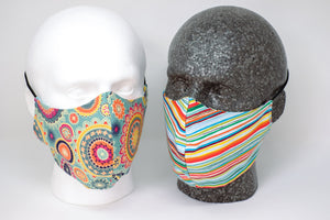 Mandala Reversible Fitted Face Mask
