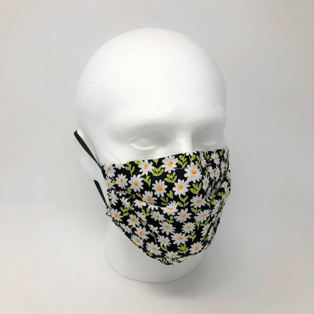 Daisy Pleated Face Mask