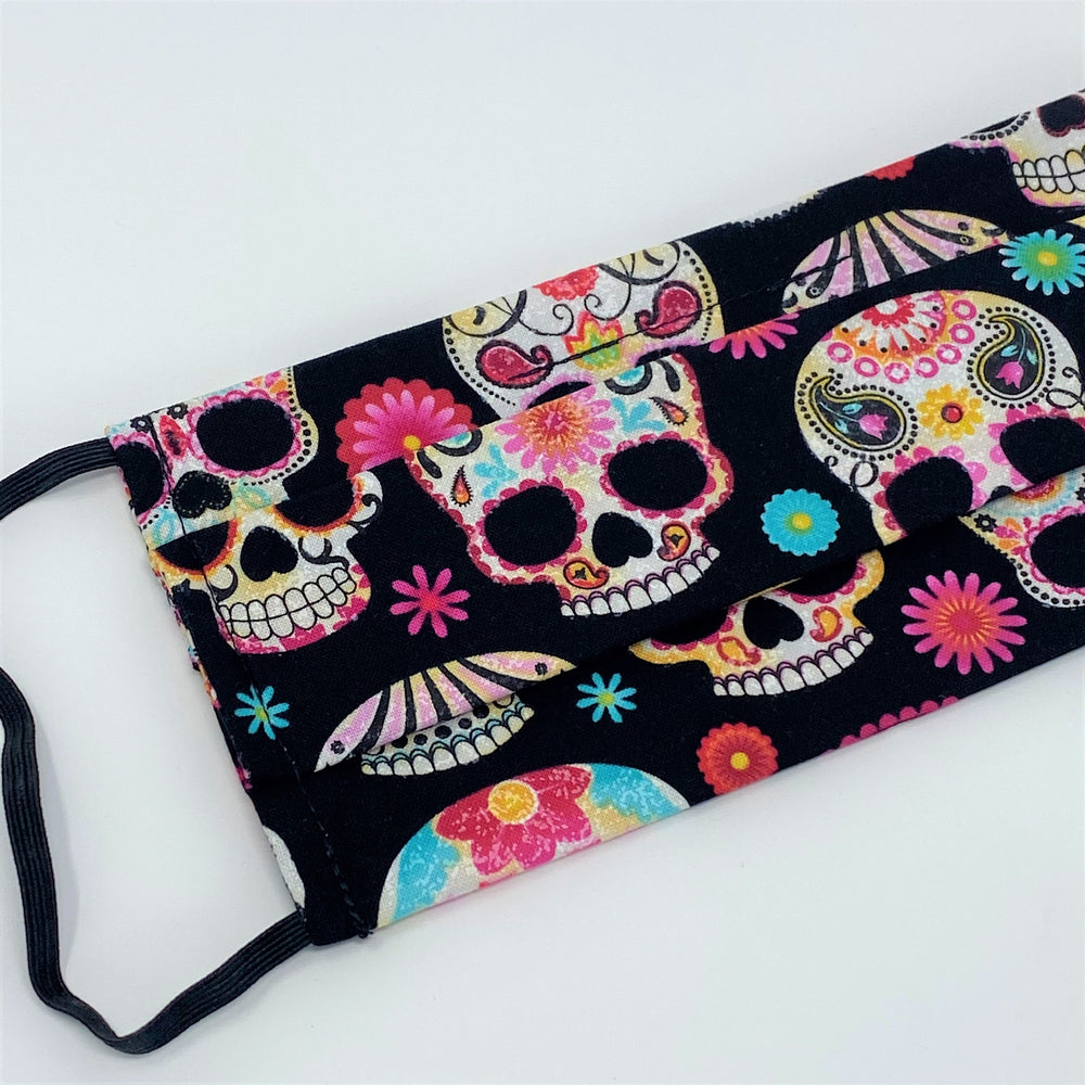 Day of the Dead Pleated Face Mask