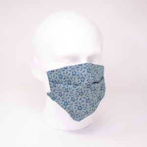 Denim Delight Pleated Face Mask
