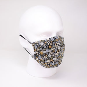 Festival Blues Pleated Face Mask