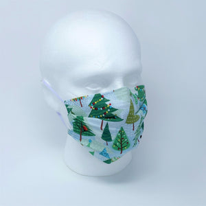 Festive Forest Pleated Face Mask