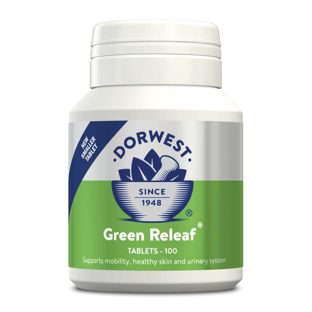 Dorwest Green Releaf® for Dogs and Cats - 100 Tablets