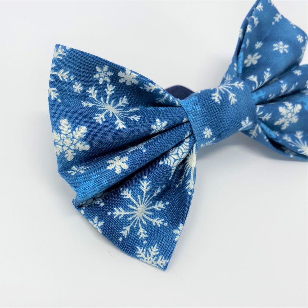 Let It Snow Blue Bow