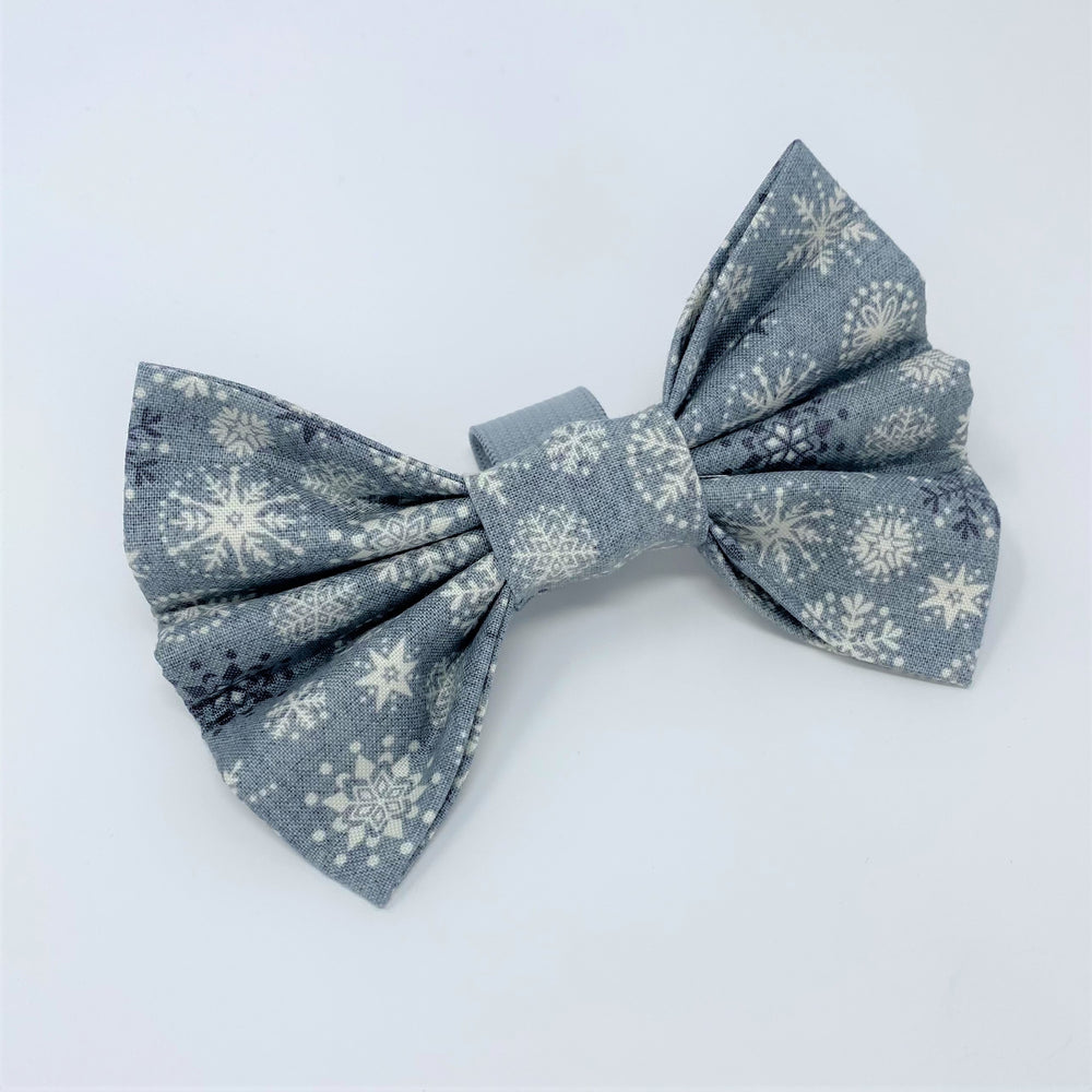 Let It Snow Grey Bow