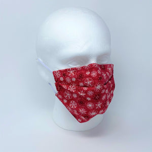 Let It Snow Red Pleated Face Mask