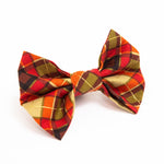 Orange Tartan Bow